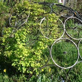 Communal garden metal work