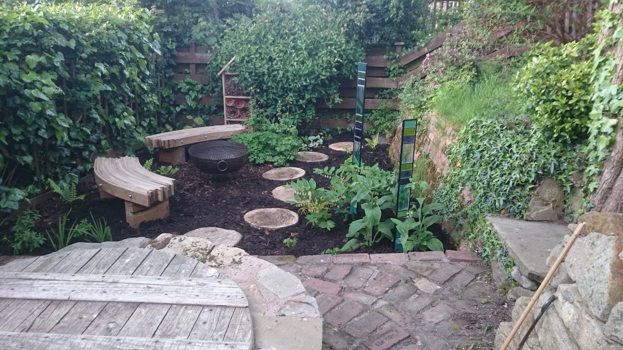 Woodland garden bench