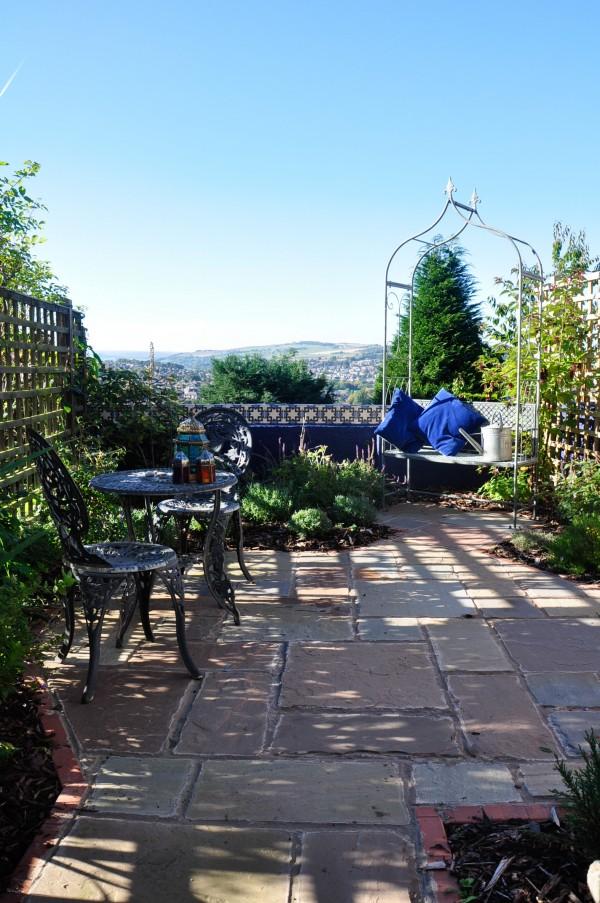 moorish garden view sunny