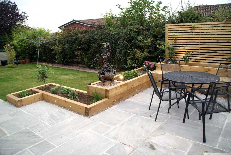 garden in day seating